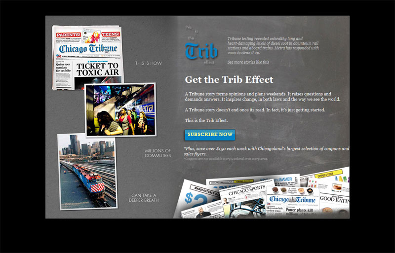Chicago Tribune Subscription Paid Search Landing Page Test